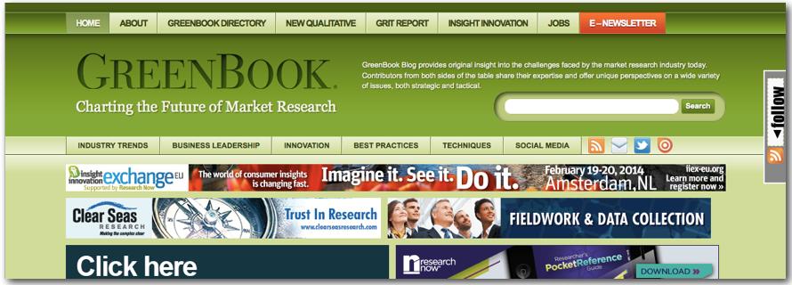 GreenBook Blog market research