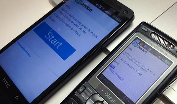 Mobile surveys: smartphone vs feature phone - photographic